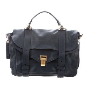 Proenza Schouler PS1 Medium Satchel in Navy